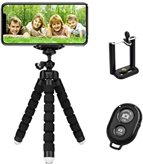 TERSELY Premium Phone Flexible Adjustable Tripod, [3 in 1] with Wireless Bluetooth Remote Shutter and Universal Clip, Fits...