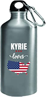 Kyrie Loves Usa 4th July Independence Day Gift - Water Bottle