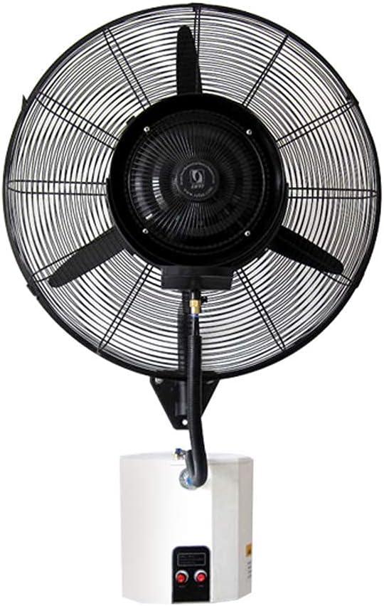 yanzz Ventilador de Alta Resistencia Potente Ventilador de Pared Oscilante Ventilador de bocina de nebulización eléctrica Aerosol Humidificador Refrigeración Ventilador silencioso con Cabezal de a
