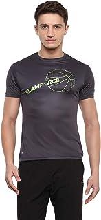 Nivia 2280-3 Nitro-4 Polyester Casual Round T-Shirt, S (Dark Grey)