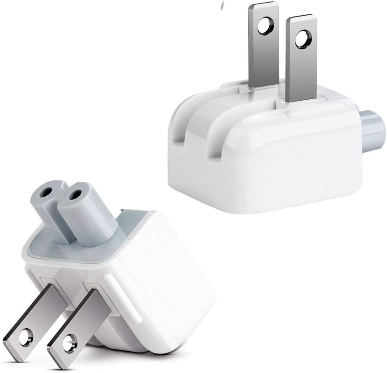 REYAER AC Wall Adapter Plug Duckhead US Wall Charger AC Cord US Standard Duck Head for McBook Maci Book/Phone/Pod AC Power Adapter (2 -Pack)
