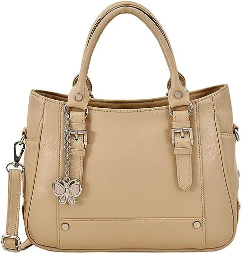 Butterflies Women Stylish and Modern Handbag Cream BNS 0720CRM