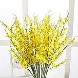Koperras Artificielles Paris,10 Pcs Simulation Oncidium OrchidéE Phalaenopsis Fleurs pour DéCoration Mariage Artificielle Jaune Fleur Sakura Florale Artificielle OrchidéE Danse De Fourche