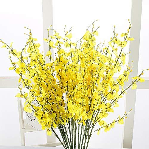 Koperras Artificielles Paris10 Pcs Simulation Oncidium Orchidée Phalaenopsis Fleurs Pour Décoration Mariage Artificielle Jaune Fleur Sakura Florale
