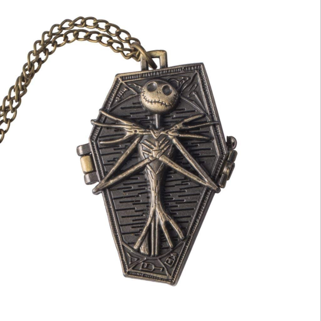 HBIN Unique Rare Skull Christmas Theme Pocket with Chain Watch Fob Wa Max 45% OFF
