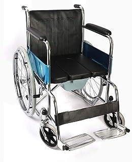 ハンドブレーキ付き移動式車椅子折りたたみ式ステンレス鋼クイックリリースリアホイール障害者用手動車椅子障害者