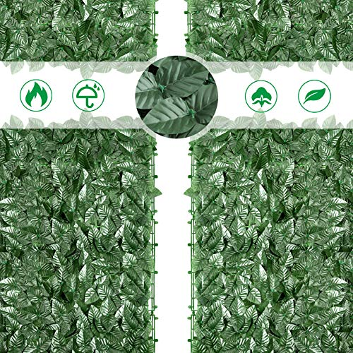 IPSXP Pantalla de Valla antirrobo para jardín al Aire Libre, césped de imitación de jardín de 118x39 Pulgadas, Interior y Exterior, decoración de Planta Falsa para jardín de Valla, Pared Verde