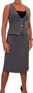 icecoolfashion Vestito delle Donne, Gilet E Gonna, Lavabile, Completamente Foderato 42-52