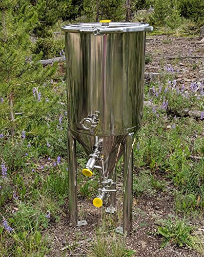 Conical Fermenter for Homebrew/Wine/Brewing, Pro Grade Stainless Steel - 13 Gallons