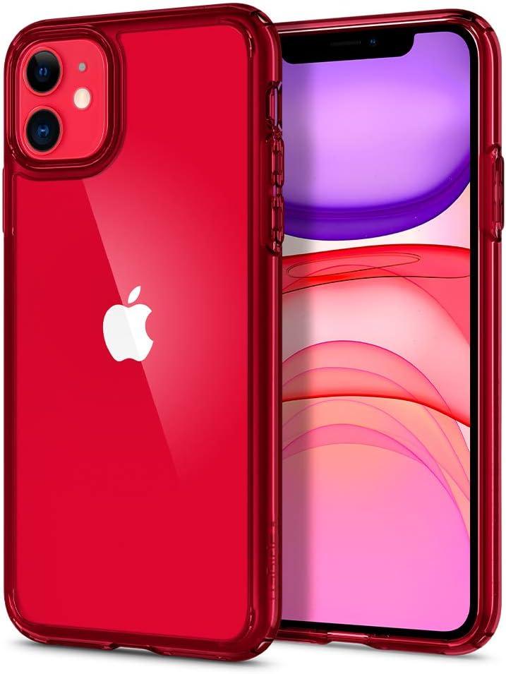 Spigen Ultra Hybrid [Military Grade] Designed for iPhone 11 Case (2019) - Red Crystal