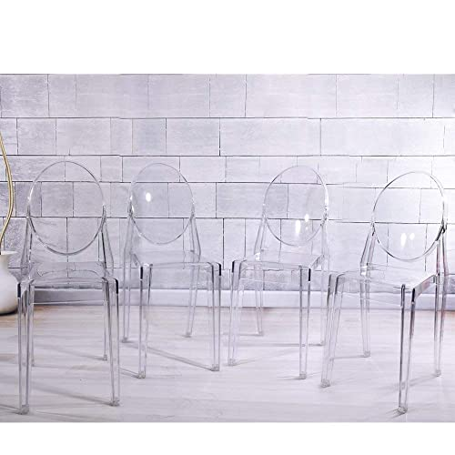 more photos c2ba1 e6b7d Clear Dining Chairs: Amazon.co.uk