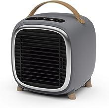 IKOHS Air Cooler Box Studio - Mini Enfriador de Aire, Aire Acondicionado de Mesa, USB, Ventilador, Humidificador, Difusor de Aromas, Purificador, Portátil, Silencioso, Temporizador (Gris Mate)
