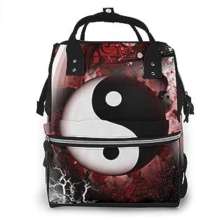 Yinyang Art Multi-Function Travel Backpack Nappy Bag,Fashion Mummy Bag