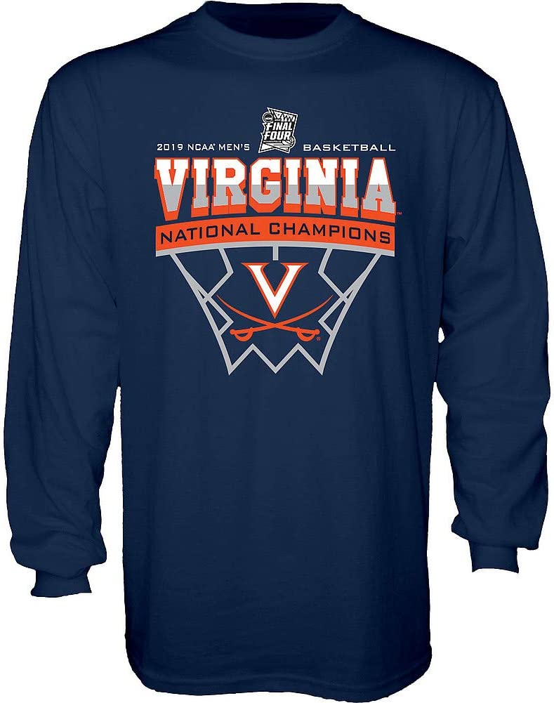 Elite Fan Shop Virginia Cavaliers National Basketball Champions Tshirt 2019 Official Logo Navy
