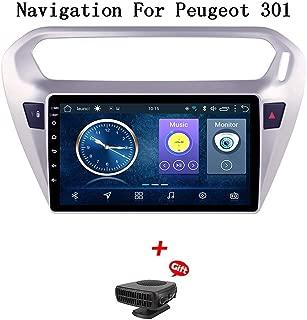 プジョー301シトロエンエリゼ2014-2018カーステレオGPSナビゲーション用のAndroid 8.1カーラジオ9インチタッチディスプレイカーメディアプレーヤーサポートスクリーンミラーWiFi Bluetooth、カーシステム