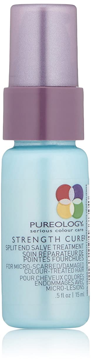 請求書巧みな身元Pureology 強キュアスプリットエンドSalveの治療、 0.5 fl。オンス 0.5オンス
