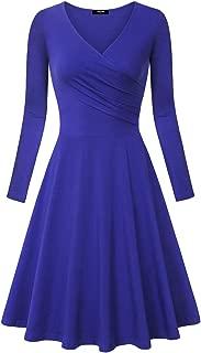 Women's Long Sleeve Elegant Vintage A Line Dress