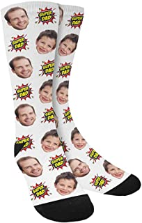 Personalized Photo Custom Socks with Face Fathers Day Gift for Men