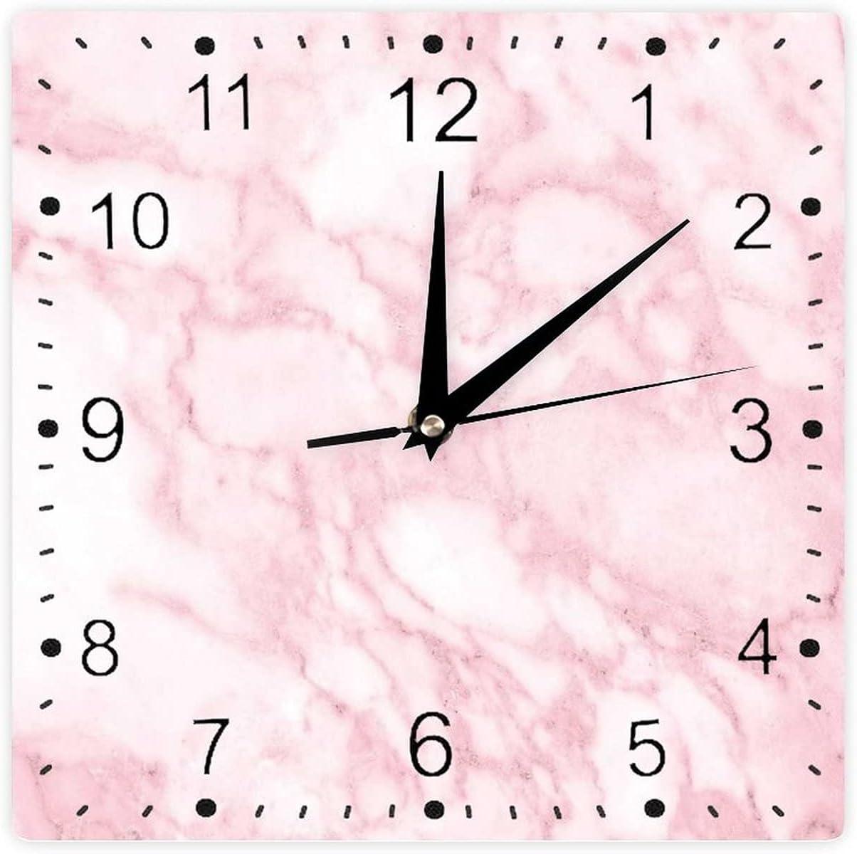 Modern Clocks Square Soft Granite Ston Fashion Space Texture Old Under New York Mall blast sales