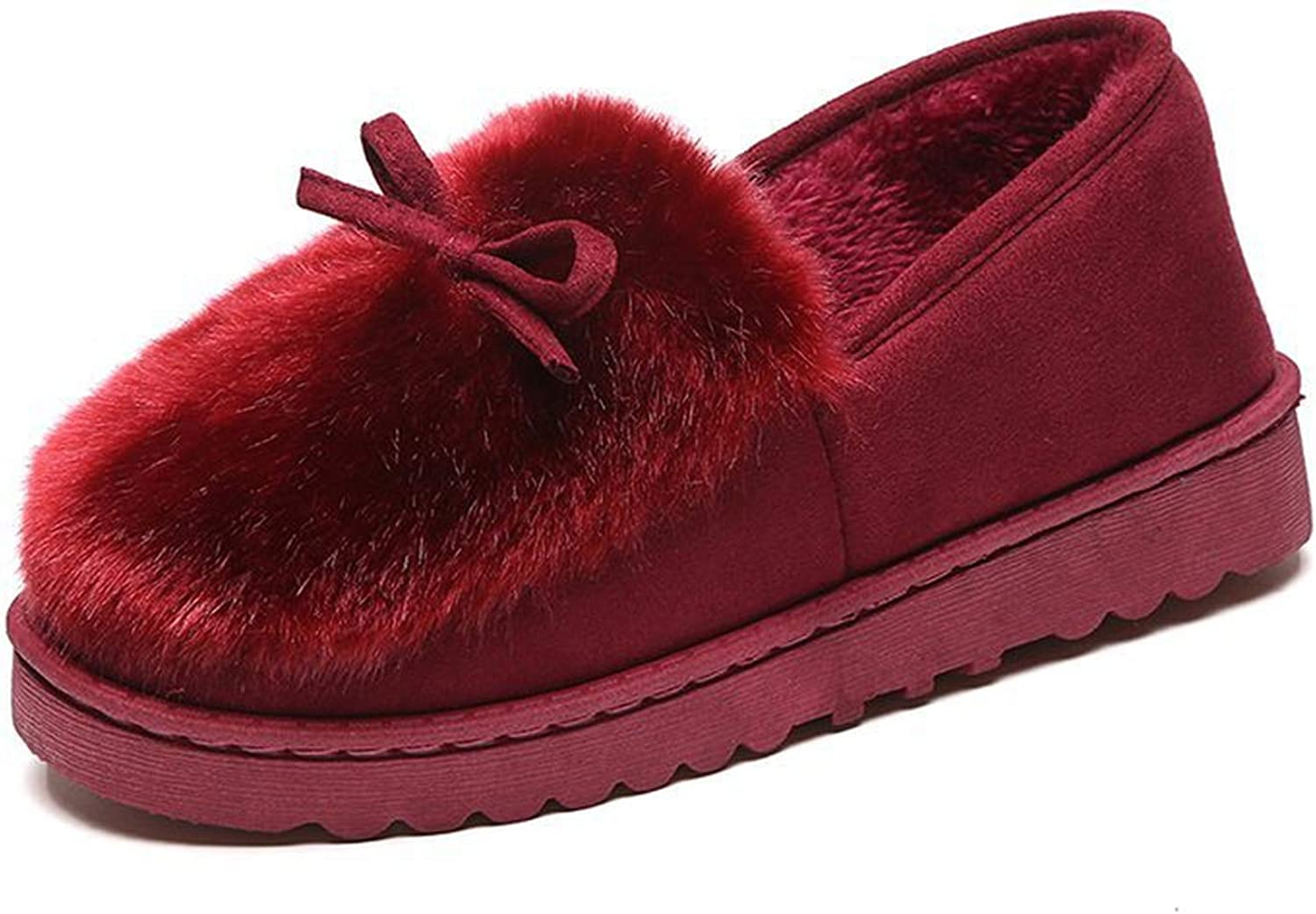 Winter Women Slippers with Fur Home Outdoor Casual Slippers Women Winter shoes tyh78