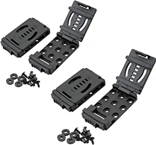GLBSUNION 2-Pack Tactical Belt Clips, Universal Utility EDC Belt Clip Outdoor Loops Camping Knife Blade Lock Large with Ha...