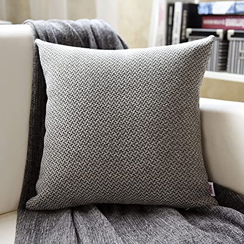 MRBJC Almohadas estilo nórdico lino espesar cojín decorativo cuadrado almohada con almohada para sofá sala sofá cama gris 30x50cm