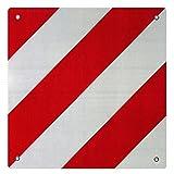 WilTec Señal Advertencia Reflectante España Aluminio Rojo Blanco Agujeros 50 x 50 cm