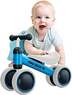 YGJT Baby Balance Bikes Bicycle Toddler Walking Rides on Toys for 1 Year Boys Girls 10 Months-24 Months Baby`s First Bike Birthday Gift Blue