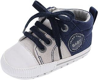 87a2c6d9ca5f5 Chaussures Bébé Binggong Chaussures Nouveau-né Bébé Garçons Filles Toile  Chaussures À Lacets Crib Prewalker