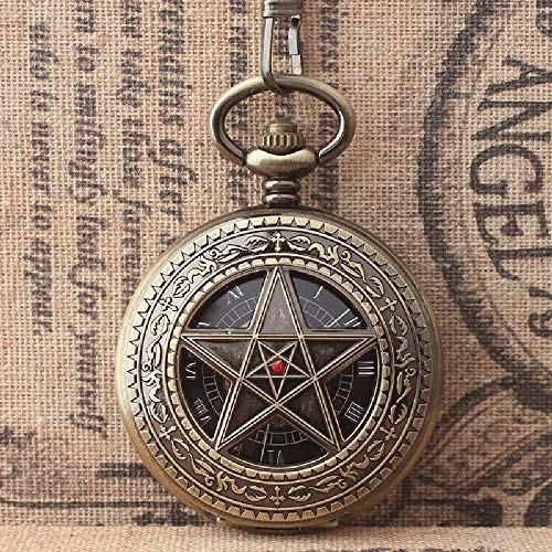 Estrellas auténticas con Mesa de Diamantes Espejo acrílico Retro Reloj de Bolsillo...