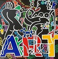 Xykshiyyカラフルな人形アートキャンバス絵画グラフィティアートポスターとプリント壁アート写真リビングルームモダンな家の装飾/ 50x50cm19x19インチ(フレームなし)