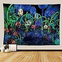 HYTGD-タペストリー 壁掛キノコの森のタペストリー壁の布掛け壁のタペストリーカーペット寮の装飾壁の毛布