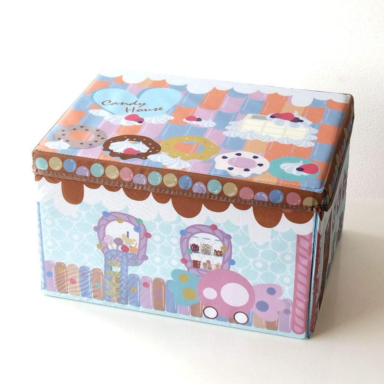 プレイマット 収納ボックス おもちゃ 収納 ボックス おもちゃ箱 子供 幼児 キッズ ベビー 赤ちゃん お片付けボックス たためる キャンディプレイマット [kkm3767]