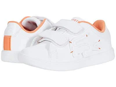 Lacoste Kids Carnaby Evo 0320 1 SUI (Toddler/Little Kid) (White/Orange) Kid