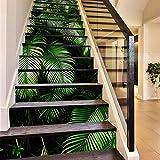 Sjzwt 13 PC/Sistema Creativo 3D Escalera Modelo Colorido Pegatinas Bosque Tropical Casa de Escaleras Escalera Decoración Etiqueta de la Pared