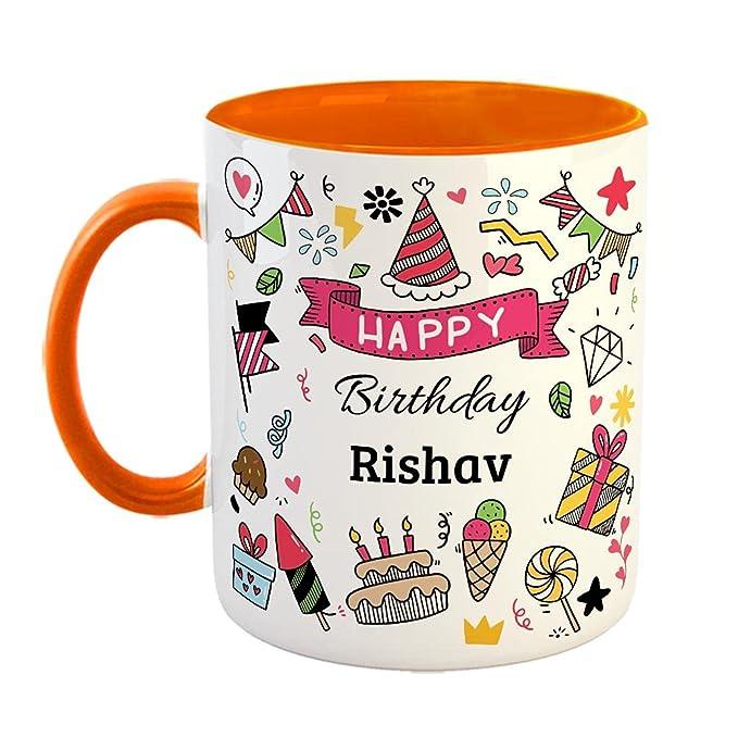 Furnishfantasy Happy Birthday Ceramic Coffee Mug