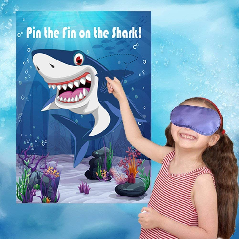 21. Pin the Fin on the Shark Party Game