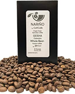 Geisha | Colombia | Whole Bean | 8 Ounces | Medium roast | Fresh roasted in Seattle | One of the world's finest coffee | Limited Edition |