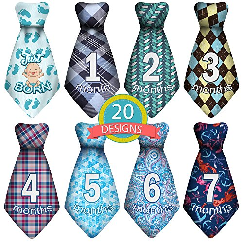 Baby Monthly and Holiday Milestone Sticker Ties