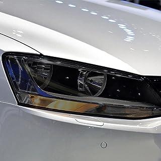 NCUIXZHAdesivo de TPU preto transparente de restauração de farol de carro, para acessórios de carro Volkswagen Jetta MK6 ...