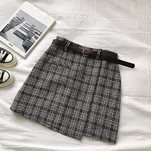 MIBKLPG Onregelmatige Hoge Taille Rok Vrouwelijke Zoete Minirok Vintage Casual Vrouwen Geruite Rok