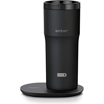NEW Ember Temperature Control Smart Mug 2, 12 oz, Black, 3-hr Battery Life - App Controlled Heated Coffee Travel Mug - Improved Design