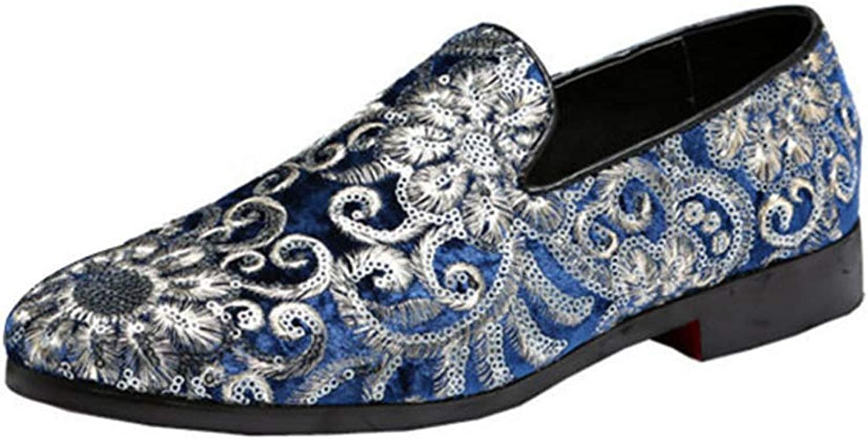 ZHRUI Men Formal shoes Casual Party Wedding Dress Leather Business Oxfords shoes (color   bluee, Size   7=41 EU)