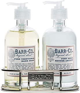 Barr-Co Original Scent Pure Vegetable Hand Soap and Fine Shea Butter Lotion Duo Caddy Set
