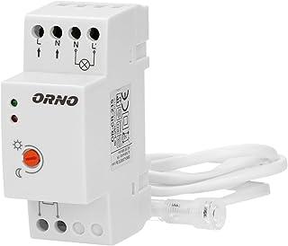 ORNO CR-219 Interruptor Crepuscular 10W - 2300W IP65 Resistente al agua (Precableado montado en DIN)
