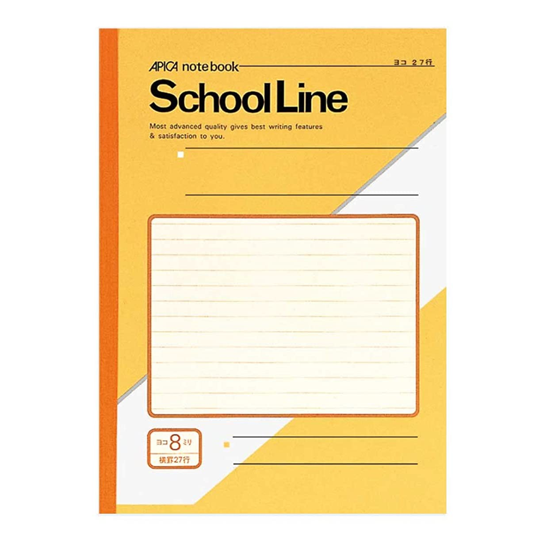 承知しました訪問トリムアピカ スクール ライン 学習 帳 セミ b 5 8 mm ヨコ 罫 ly 8 y 黄 1 包 10 冊
