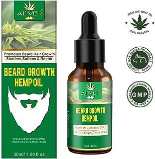 Aceite de cáñamo natural para barba para el crecimiento de la barba, con aceite de jojoba infundido, aceite de cedro, aceite de macadamia que promueve el crecimiento de la barba, condiciones