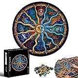 Puzzles para Adultos, Cartón Rompecabezas, Rompecabezas Color, Puzzle Creativo, Rompecabezas Redondo, Constelaciones Rompecabezas, Desafiantes Juegos De Educación Intelectual