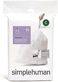 simplehuman Custom Fit Trash Can Liner C (20 ct)