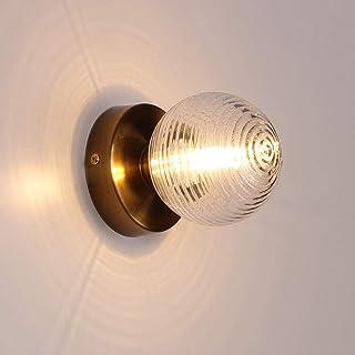 MantoLite LED Vaso Lámparas de Pared, Soporte de lámpara Apliques de Pared Iluminación de Interior Lámparas Lectura de Sala Pasillos Escaleras Luz Lámparas de Noche Acabado Dorado (Bombilla incluida)